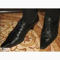 Ботинки туфли полусапожки кожа Gabor 6 1/2 (39, 5)
