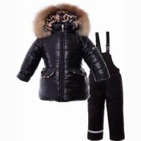 PILGUNI 2020г Wild and free чёрный тёплый зимний комплект для девочки