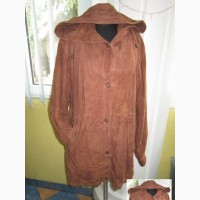 Стильная женская кожаная куртка с капюшоном YORN. Франция. Лот 627
