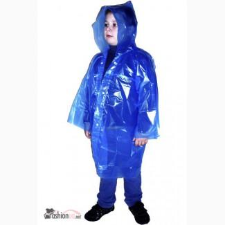Детские полиэтиленовые дождевики оптом