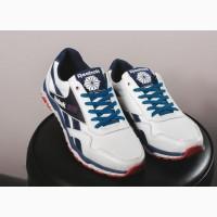 Мужские белые кожаные кроссовки Reebok 10768