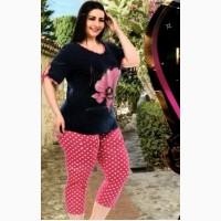 Комплект женский футболка с бриджами Турция