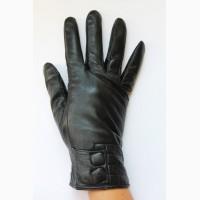 Кожаныезимние перчатки женские на меху
