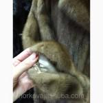 Классическая модель норковой шубы с меховым поясом