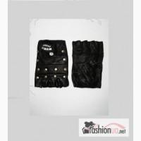 Атлетические перчатки, натуральная кожа, модель с заклепками