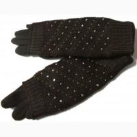 Перчатки на меху и митенки СЕНСОРНЫЕ 2 в 1, разные цвета