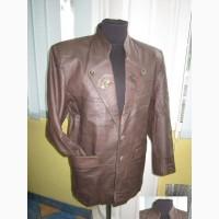 Большой кожаный мужской пиджак. Германия. Лот 661. Винтаж