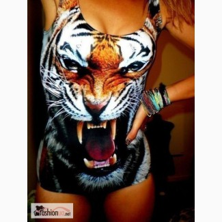 Леопардовый, тигровый купальник в стиле Bat Norton, iSwag