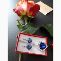TITANIK OCEAN HEART SWAROWSKI подарочные ожерелья и серьги лучший подарок девушкам