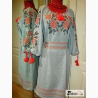 Сорочка-вышиванка. Платье с поясом