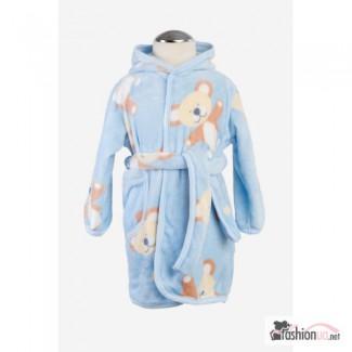 Продается детский халат велюровий Twins Ведмедик 110-116 blue