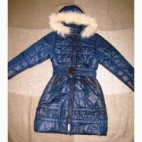 Пальто пуховик для девочки, зима