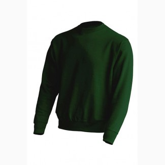 Реглан унисекс темно-зеленого цвета