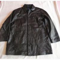 Большая классическая кожаная мужская куртка AM Studio. Лот 608