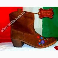 Ботинки женские замшевые gian marco conti оригинал италия