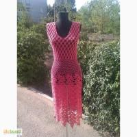 Вязаное крючком авторское ажурное платье, в наличии и под заказ
