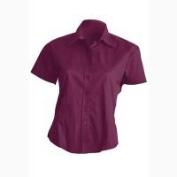 Рубашка женская с коротким рукавом черная хлопок, блузка с коротким рукавом