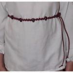 Плетеный пояс ручной работы
