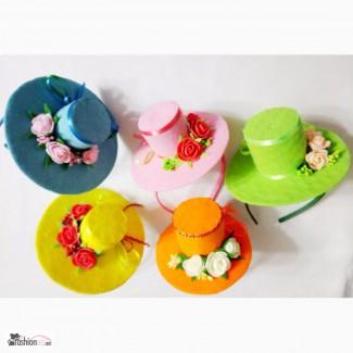 Шляпки для маленьких модниц на ободке