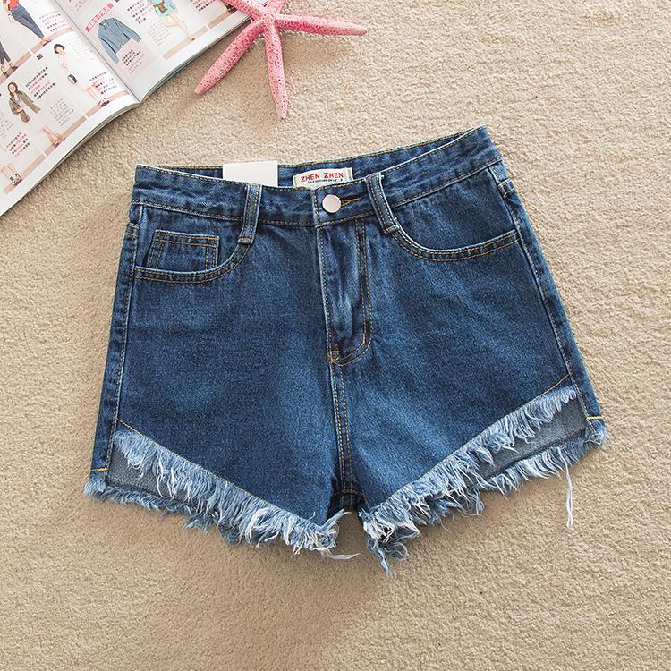 Фото 2. Женские джинсовые шорты с завышенной талией размера S, M, L
