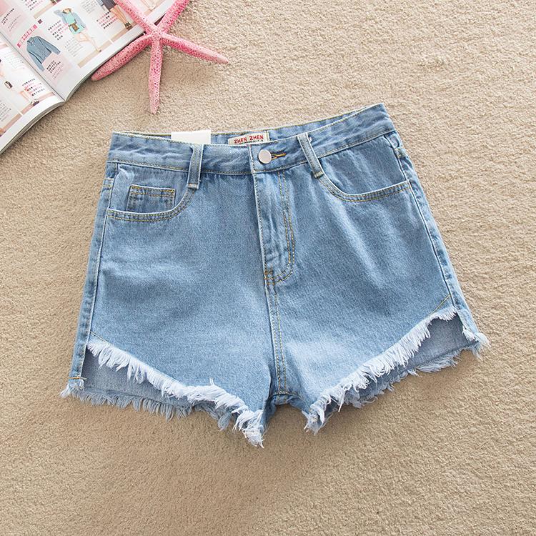 Фото 3. Женские джинсовые шорты с завышенной талией размера S, M, L