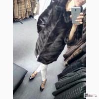 Шикарная норковая шуба кимоно