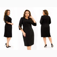 Модные платья с гипюром больших размеров