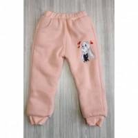 Штаны детские утепленные Bunny розовые