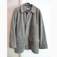 Большая утеплённая кожаная мужская куртка TRAPEZ. Лот 612