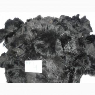 Мех кролика кусочки. Цвет: черный