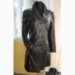 Стильная женская кожаная куртка- плащ JULIA S.ROMA. Италия. Лот 435