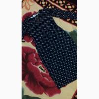 Платье темно-синее(размер М) с мелким геометрическим принтом/сукня міді демісезонна