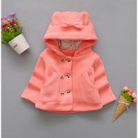 Пальто для девочек на весну с бантиком
