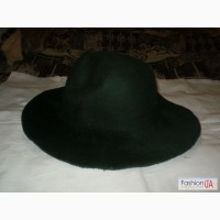 Колпак фетровый для шляпы новый темно-зеленый.