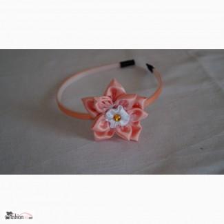 Обруч ручной работы Персиковый цветок