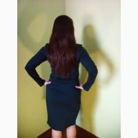 Темно-зеленые платья с длинными рукавами(44, 46, 48, 50 размеры)/сукні міді