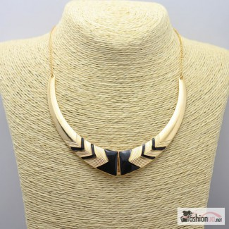 Колье воротник ожерелье золотисто-черное новое