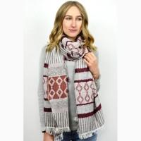 Пледы ( шарфы, палантины), зима, много цветов