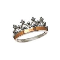 Кольцо женское Корона