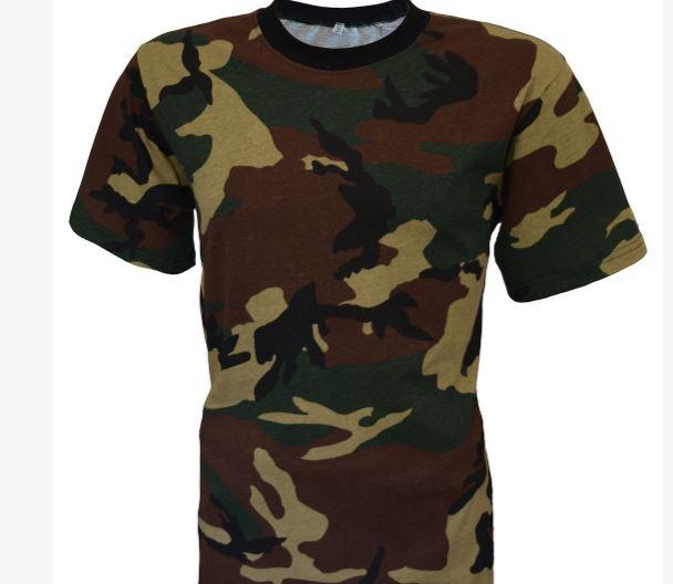 Фото 5. Армейские камуфляжные футболки