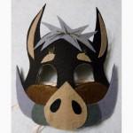 Новогодние мягкие маски с фетра для мальчиков