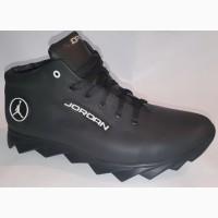 Мужские теплые Ботинки высокие кроссовки зимние Jordan на меху полуботинки спорт Розн Опт
