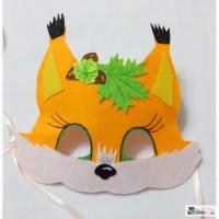 Карнавальные мягкие маски с фетра для девочек