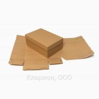Коробка для обуви 325х210х115 бурая/зеленая