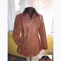 Классная тёплая женская кожаная куртка. Германия. Лот 870
