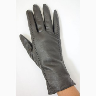 Перчатки женские кожа на меху