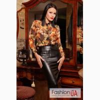 Красивая женская кожаная юбка (иск) недорого в Украине в интернет-магазине