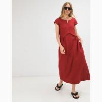 Летнее платье из льна season в стиле бохо цвет турецкий красный