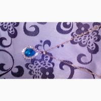 Ювелірні вироби :ланцюжок з прикрасою та кульчики//ювелирный набор:цепочка и серьги