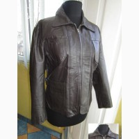Лёгкая женская кожаная куртка BENETTON. Англия. Лот 925
